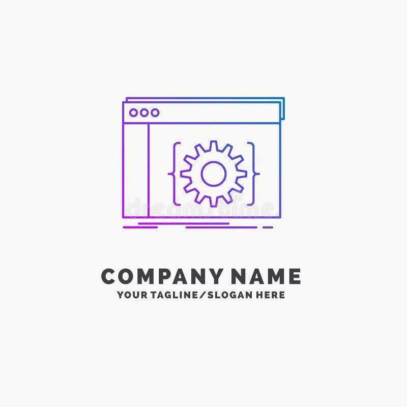 Api,应用程序,编制程序,开发商,软件紫色企业商标模板 r 皇族释放例证