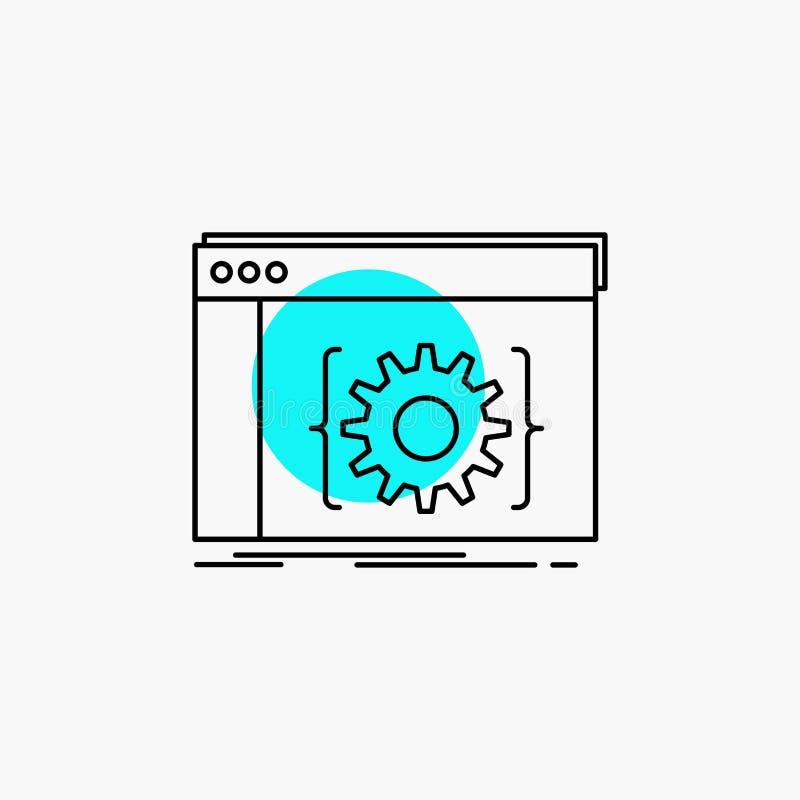 Api,应用程序,编制程序,开发商,软件线象 皇族释放例证