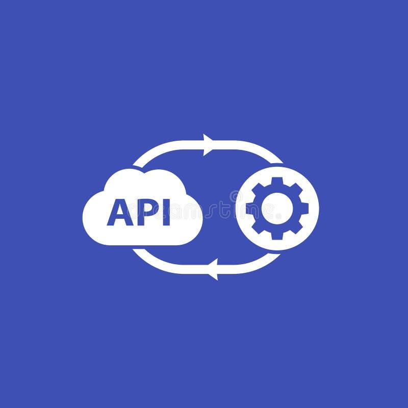 API, ícone do software da nuvem ilustração royalty free