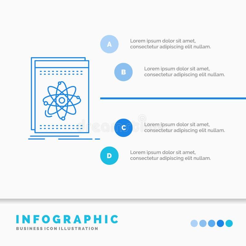 API, εφαρμογή, υπεύθυνος για την ανάπτυξη, πλατφόρμα, πρότυπο Infographics επιστήμης για τον ιστοχώρο και παρουσίαση Μπλε εικονίδ απεικόνιση αποθεμάτων