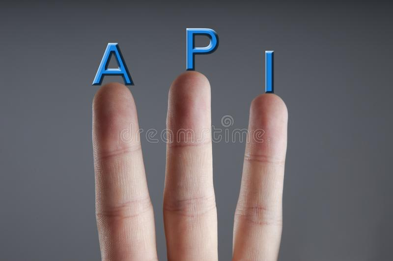 API acronym - Application Interface Programming. Business, Internet and technology concept. royalty free stock image
