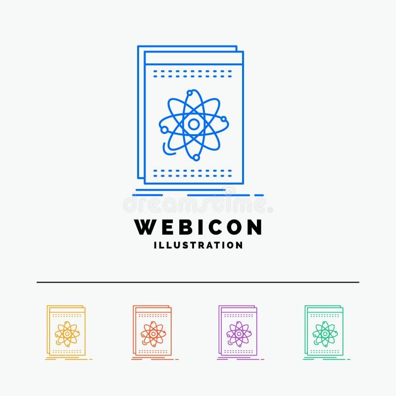 API, Anwendung, Entwickler, Plattform, Wissenschaft 5 Farblinie-Netz-Ikonen-Schablone lokalisiert auf Weiß Auch im corel abgehobe lizenzfreie abbildung