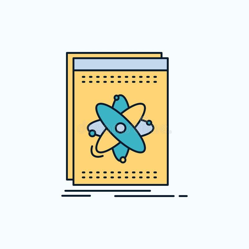 API, Anwendung, Entwickler, Plattform, Wissenschaft flache Ikone r lizenzfreie abbildung