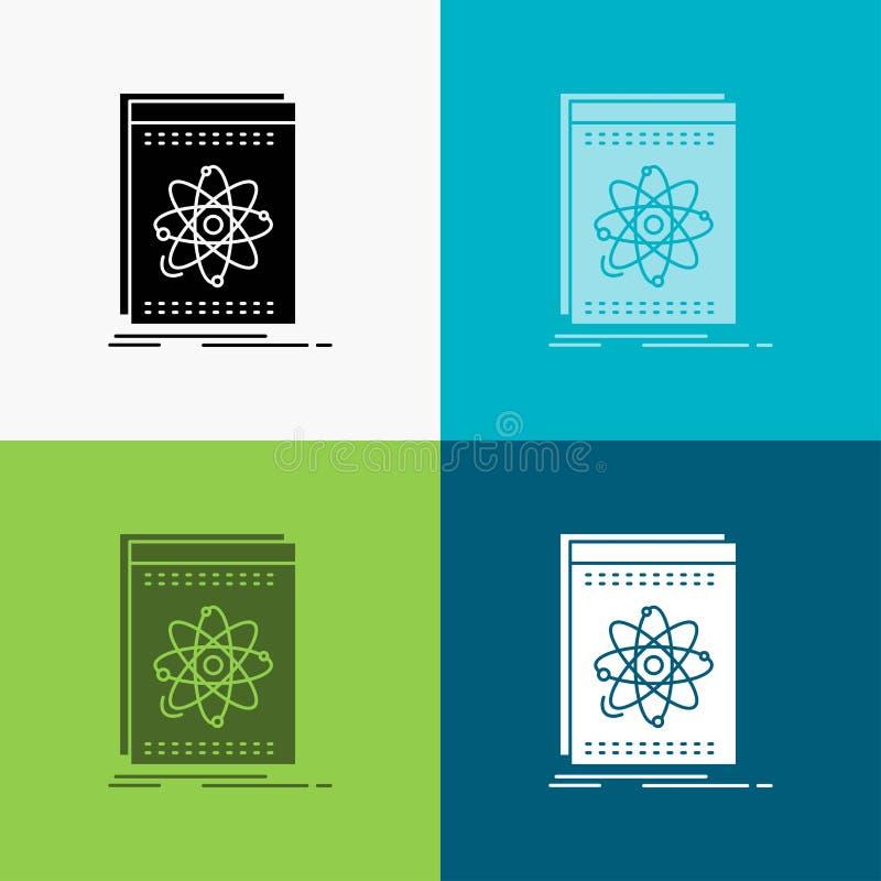 API, Anwendung, Entwickler, Plattform, Wissenschaft Ikone über verschiedenem Hintergrund Glyphartdesign, bestimmt f?r Netz und AP lizenzfreie abbildung
