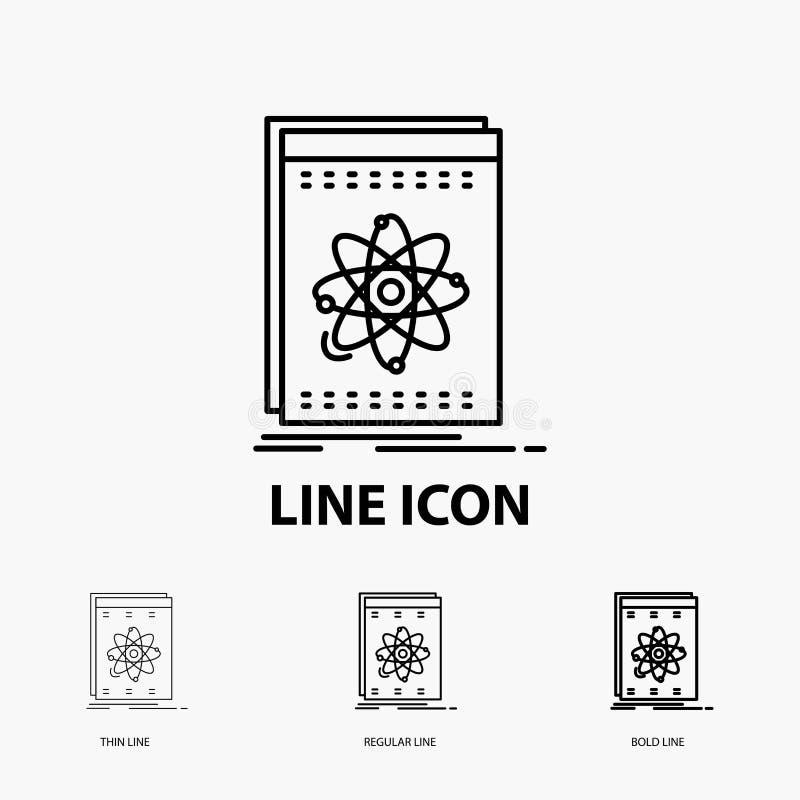 API, Anwendung, Entwickler, Plattform, Wissenschaft Ikone in der dünnen, regelmäßigen und mutigen Linie Art Auch im corel abgehob vektor abbildung