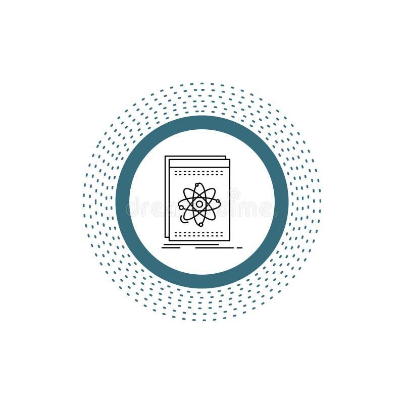 API, Anwendung, Entwickler, Plattform, Wissenschaft Linie Ikone Vektor lokalisierte Illustration stock abbildung