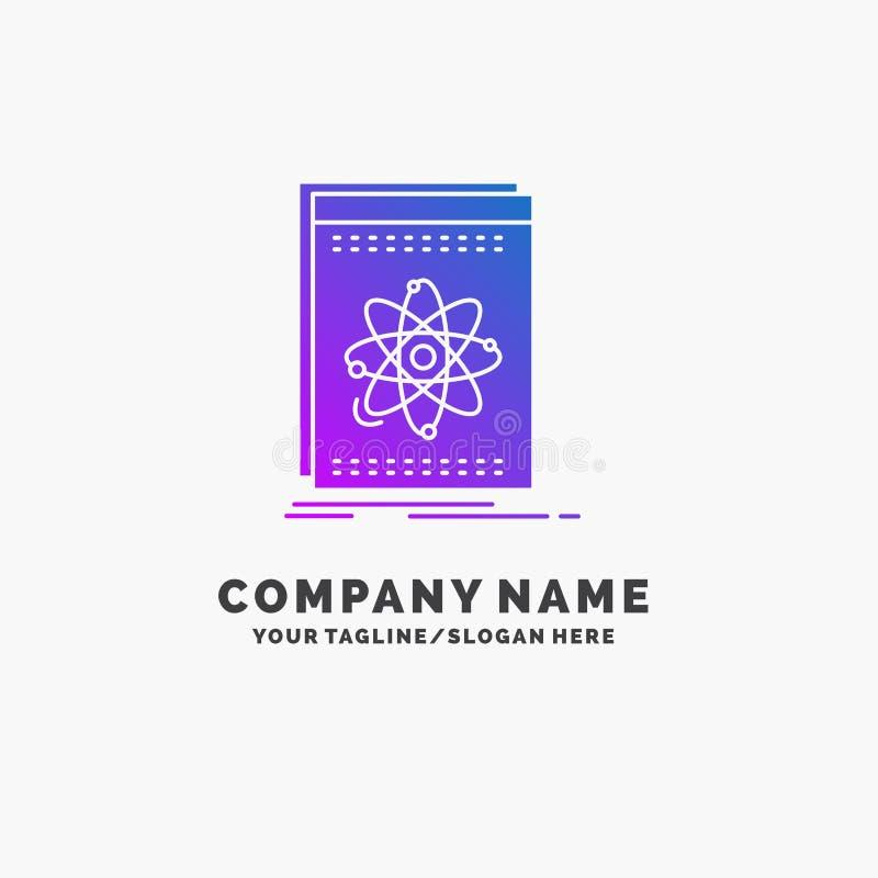 API, Anwendung, Entwickler, Plattform, Wissenschaft purpurrotes Geschäft Logo Template Platz f?r Tagline stock abbildung