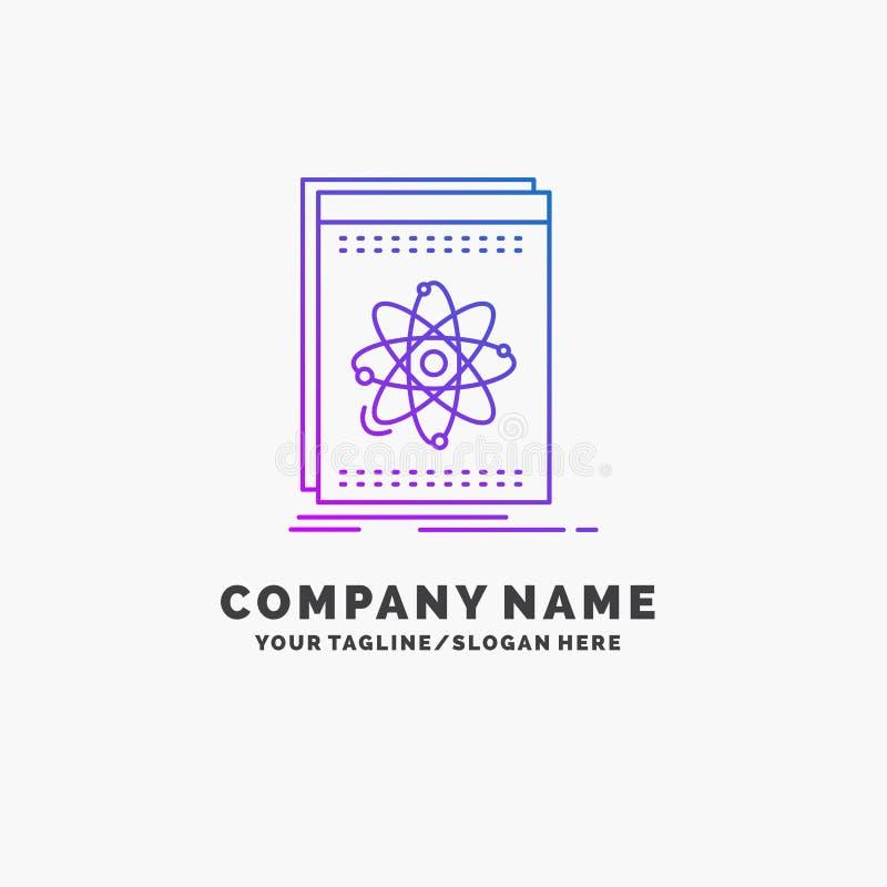 API, Anwendung, Entwickler, Plattform, Wissenschaft purpurrotes Gesch?ft Logo Template Platz f?r Tagline stock abbildung