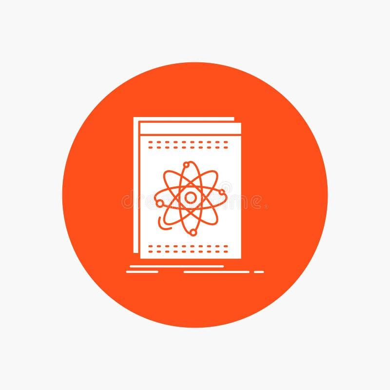 API, Anwendung, Entwickler, Plattform, Wissenschaft weiße Glyph-Ikone im Kreis Vektor-Knopfillustration lizenzfreie abbildung
