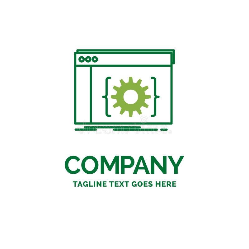 API, App, Kodierung, Entwickler, Software flaches Geschäfts-Logo templat lizenzfreie abbildung