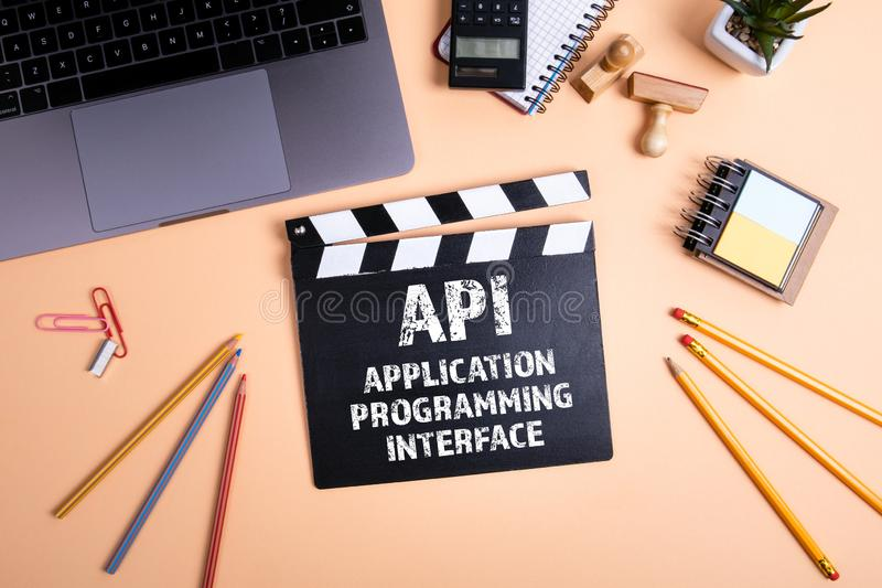 API Application Programming Interface. Information technology and business concept royalty free stock photos