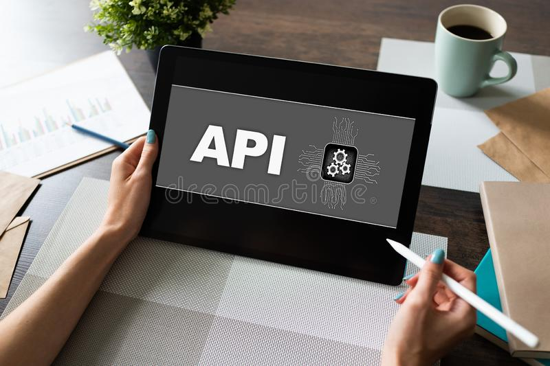 API application programming interface. Internet and technology concept. stock photography