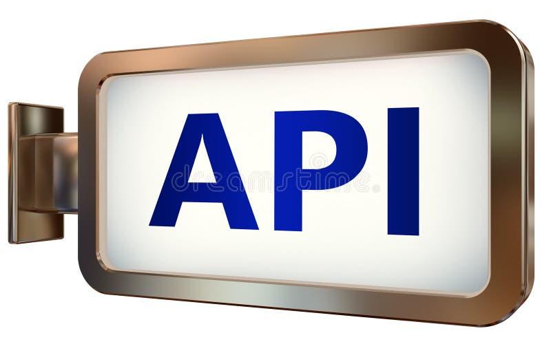 API en fondo de la cartelera stock de ilustración