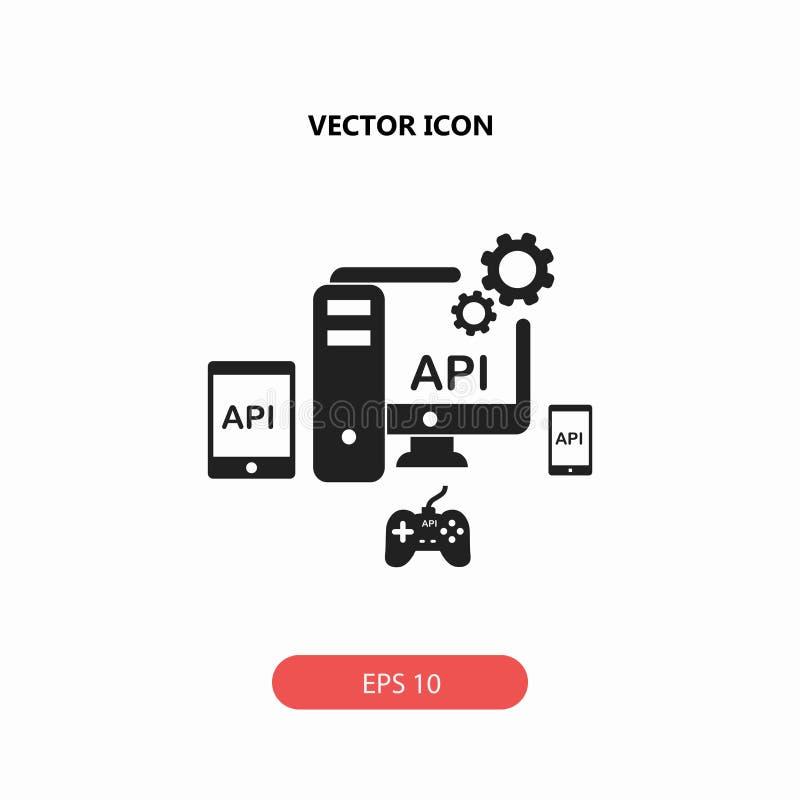 API, icono del interfaz de programación de uso fotos de archivo