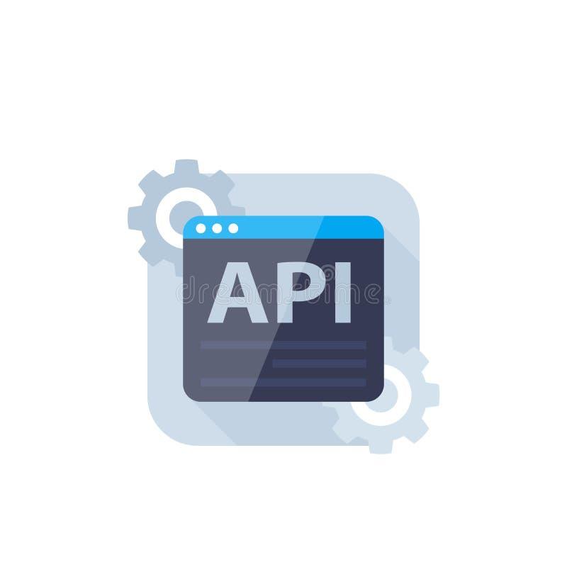 API, icono del vector de la integraci?n de software ilustración del vector