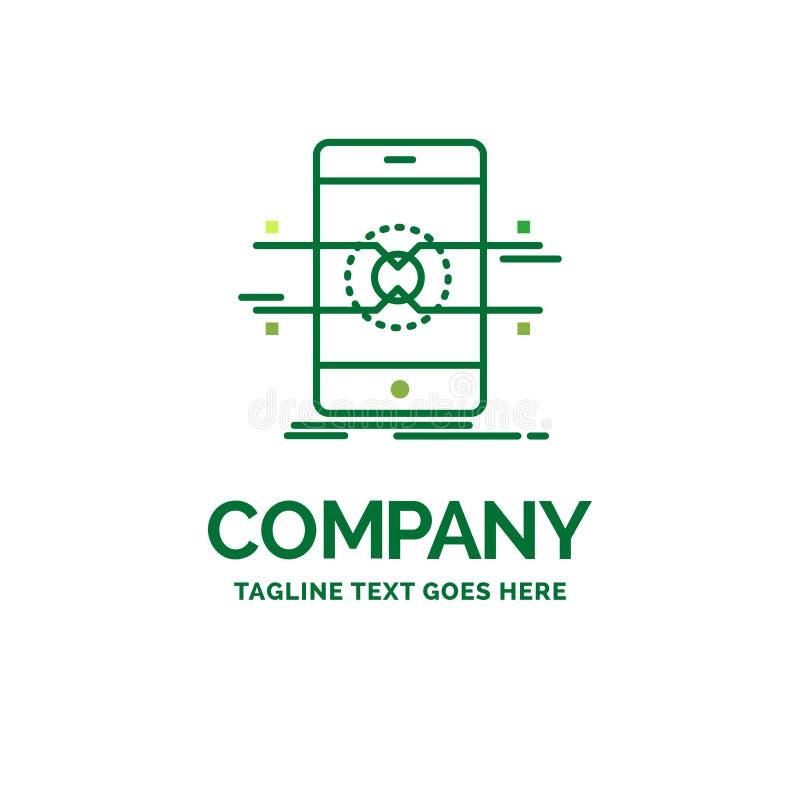 Api, interfaccia, cellulare, telefono, tem piano di logo di affari dello smartphone royalty illustrazione gratis