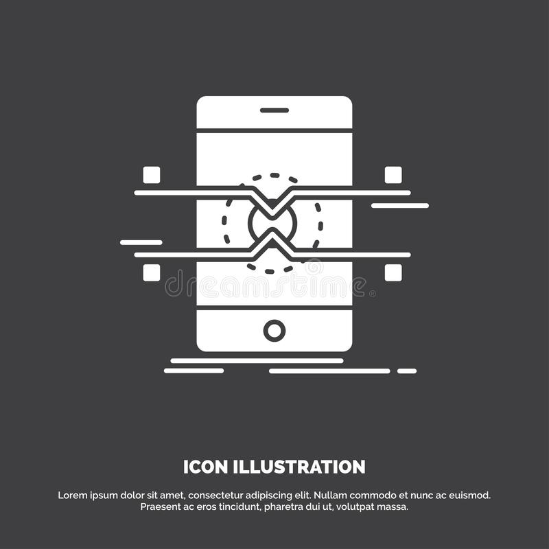 Api, interface, mobile, phone, smartphone Icon. glyph vector symbol for UI and UX, website or mobile application. Vector EPS10 Abstract Template background vector illustration