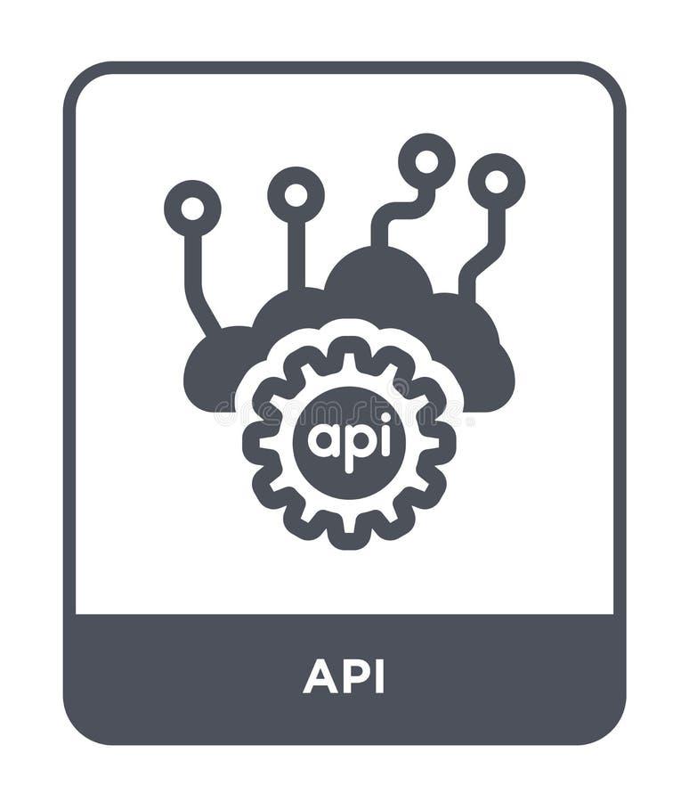 api-symbol i moderiktig designstil Api-symbol som isoleras på vit bakgrund enkelt och modernt plant symbol för api-vektorsymbol f stock illustrationer