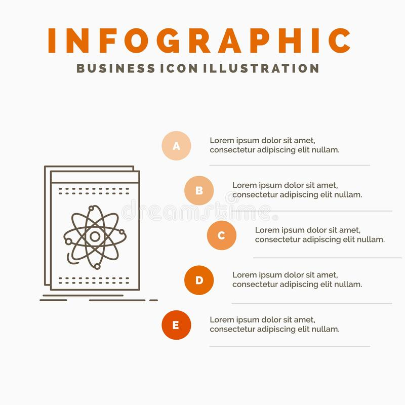 Api, toepassing, ontwikkelaar, platform, het Malplaatje van wetenschapsinfographics voor Website en Presentatie Lijn Grijs pictog vector illustratie