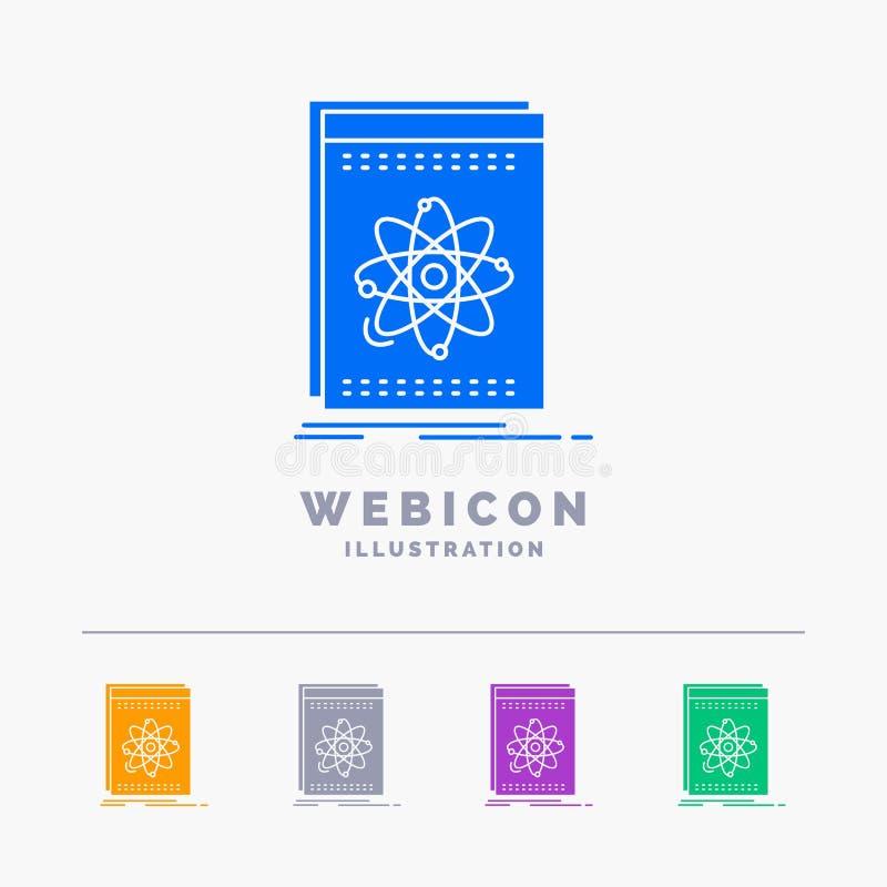 Api, toepassing, ontwikkelaar, platform, wetenschap 5 het Malplaatje van het het Webpictogram van Kleurenglyph op wit wordt geïso royalty-vrije illustratie