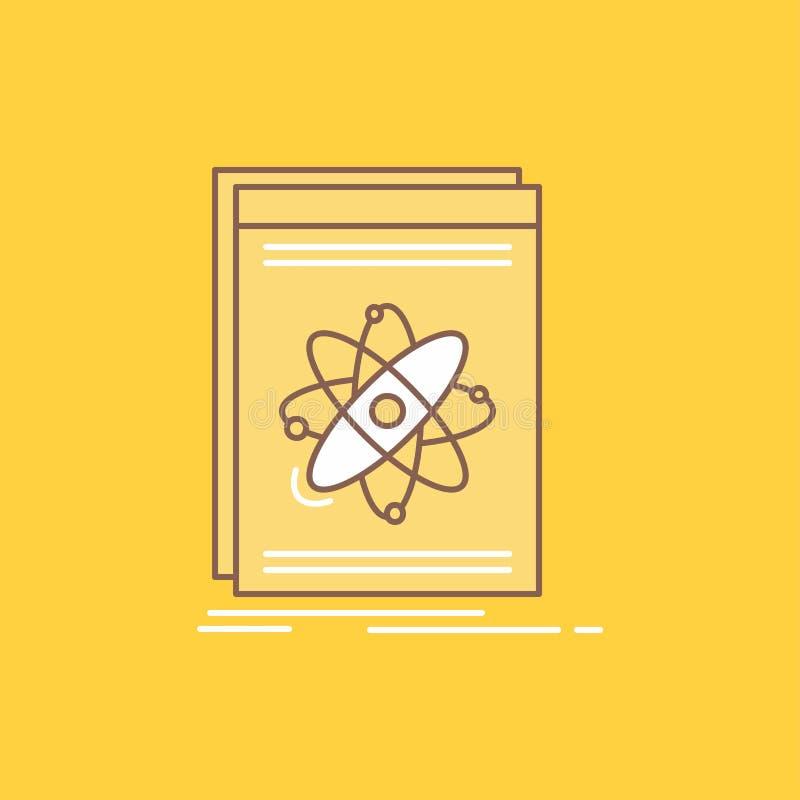 Api, toepassing, ontwikkelaar, platform, wetenschaps Vlakke Lijn vulde Pictogram Mooie Embleemknoop over gele achtergrond voor UI stock illustratie