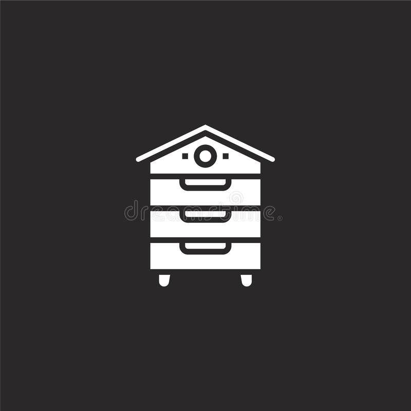 apiary icon. Filled apiary icon for website design and mobile, app development. apiary icon from filled farm collection isolated vector illustration