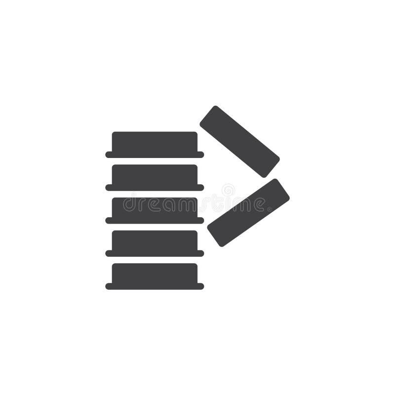 Apile correctamente el icono obligatorio del vector de la muestra libre illustration