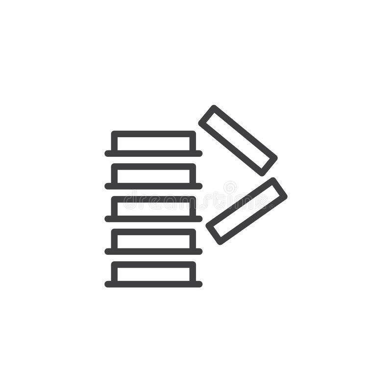 Apile correctamente la l?nea obligatoria icono de la muestra ilustración del vector