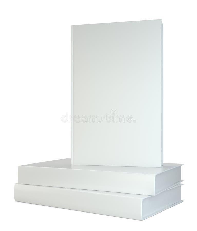 Apile realista de los libros aislados en el fondo blanco representación 3d stock de ilustración
