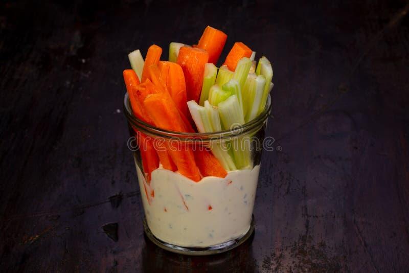 Apio y zanahoria foto de archivo libre de regalías