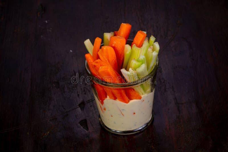 Apio y zanahoria fotografía de archivo