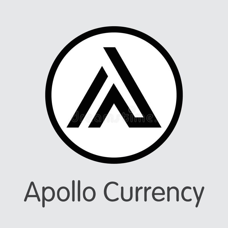 APL - Apollo Currency O logotipo do emblema do dinheiro ou do mercado ilustração royalty free