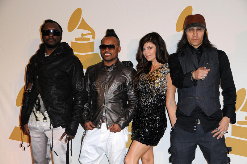 apl.de.ap, Black Eyed Peas, Fergie Ferguson fotografia stock