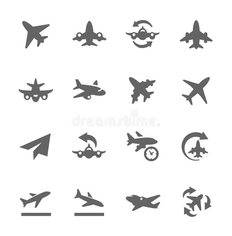 Aplana ícones ilustração stock