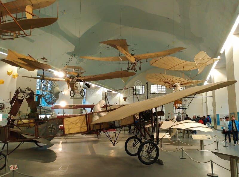 Aplane no museu alemão do museu da ciência e da tecnologia ou do DAS Deutsche em Munich, Baviera fotos de stock