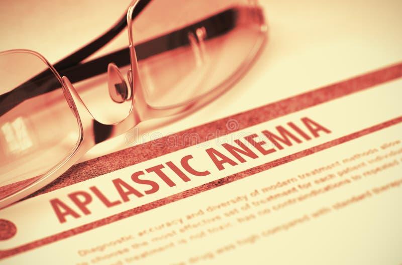 Aplastic blodbrist Medicin illustration 3d fotografering för bildbyråer