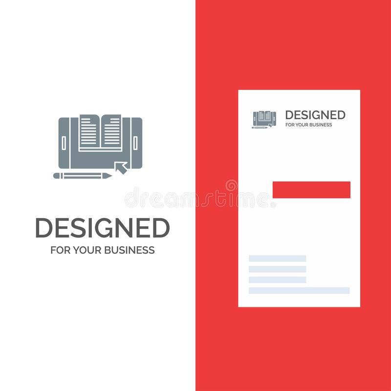 Aplicação, arquivo, Smartphone, tabuleta, transferência Grey Logo Design e molde do cartão ilustração royalty free