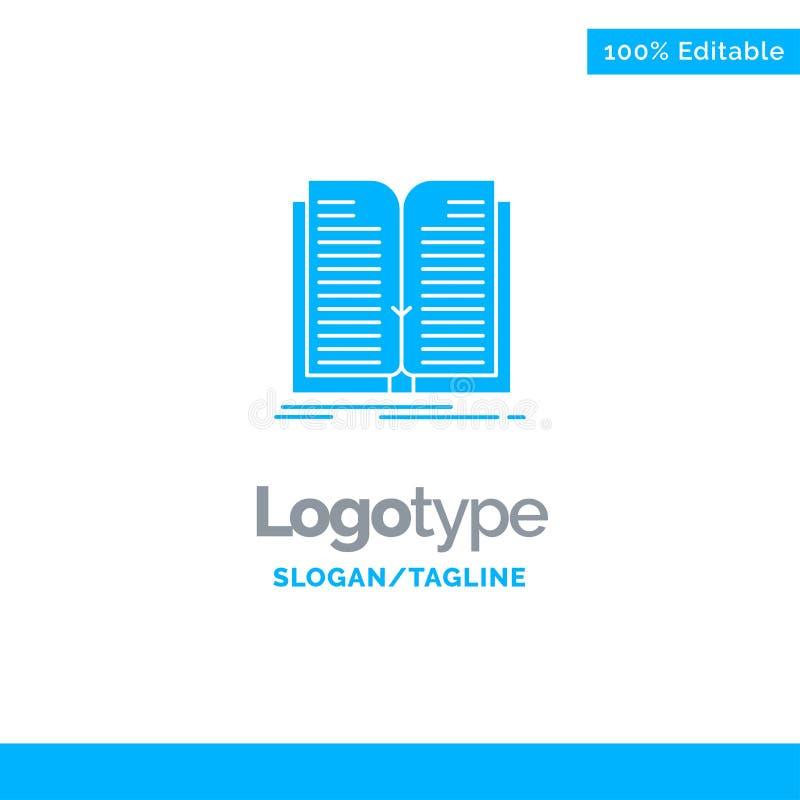 Aplicação, arquivo, transferência, livro Logo Template contínuo azul Lugar para o Tagline ilustração royalty free