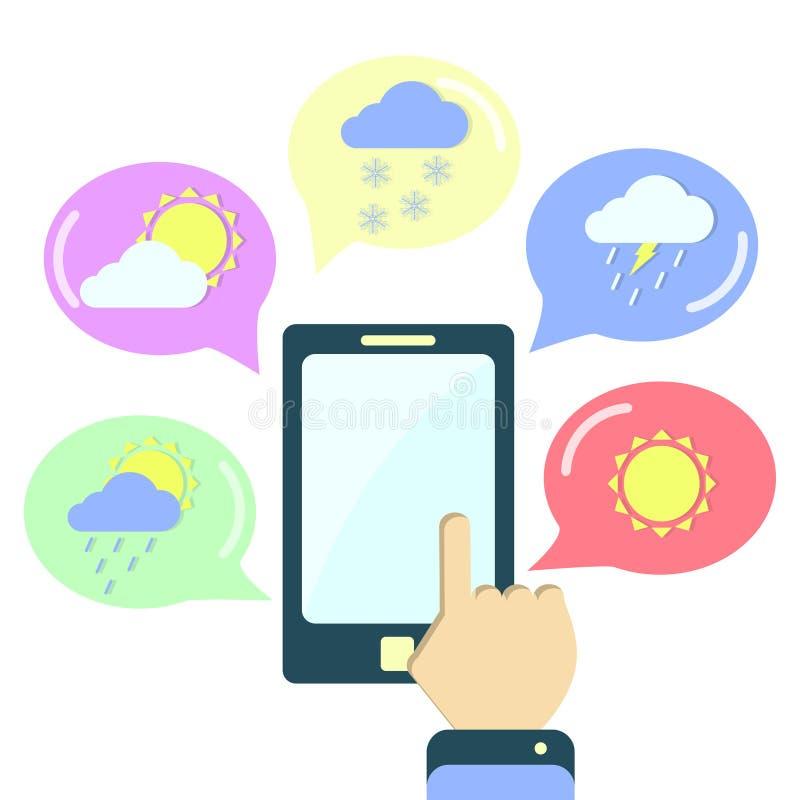 Aplicação da meteorologia ilustração do vetor