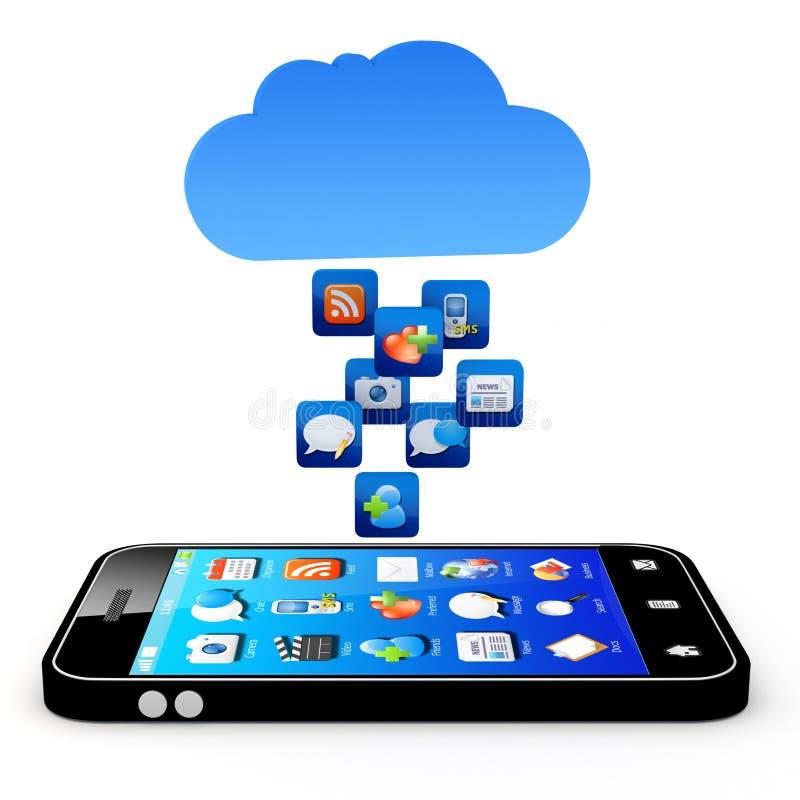 Aplicação da nuvem ilustração royalty free