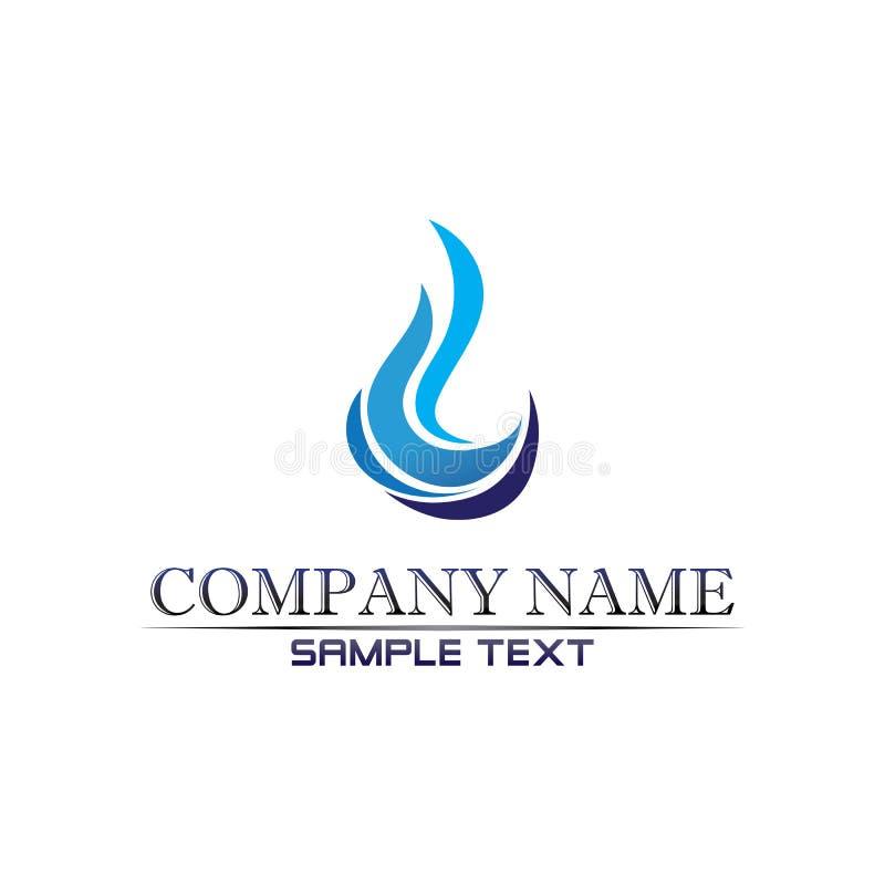 aplicação de ícones de modelo para o logotipo e símbolos da praia Waves Waves ilustração stock