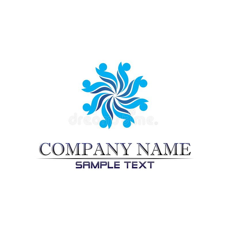 aplicação de ícones de modelo para o logotipo e símbolos da praia Waves Waves ilustração royalty free