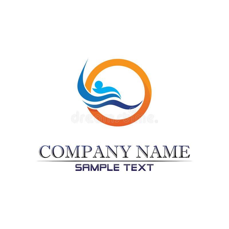 aplicação de ícones de modelo para o logotipo e símbolos da praia Waves Waves ilustração do vetor