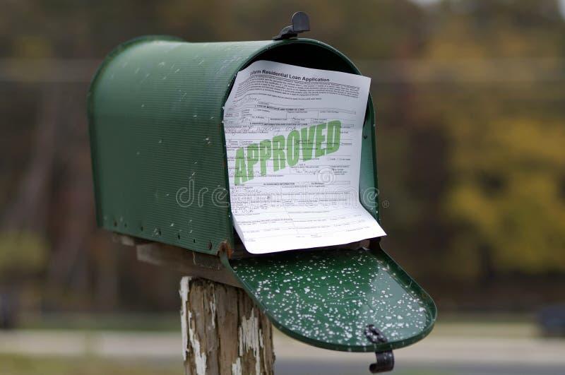Aplicação de empréstimo aprovada   fotografia de stock royalty free