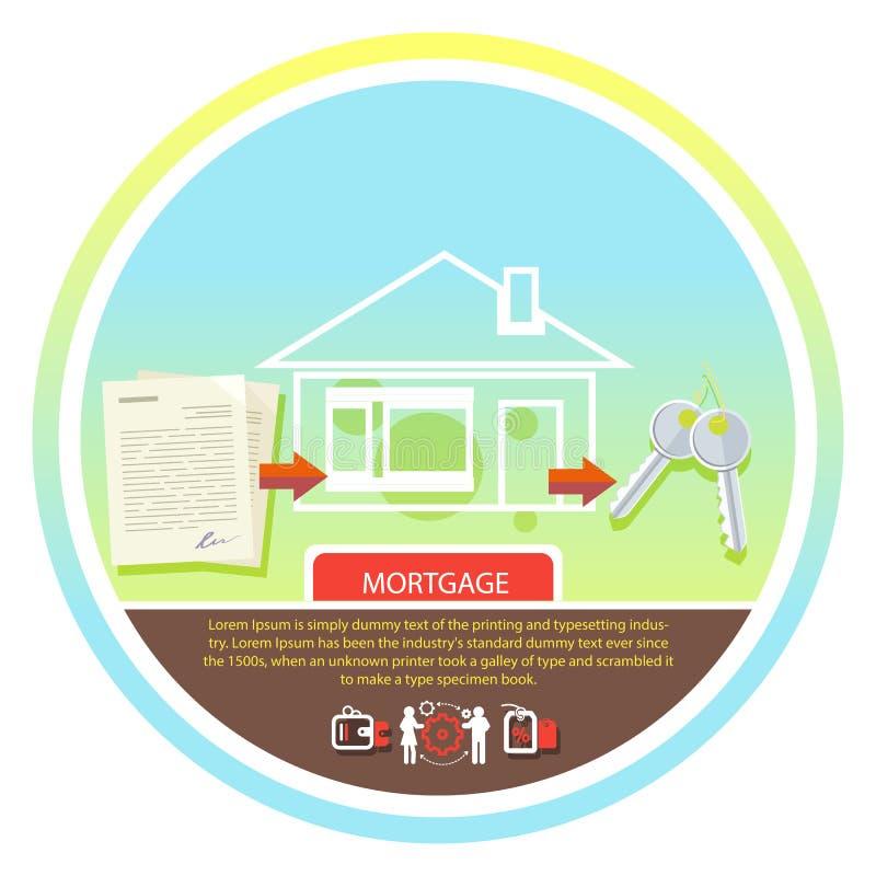 Aplicação de empréstimo hipotecário aprovada ilustração royalty free