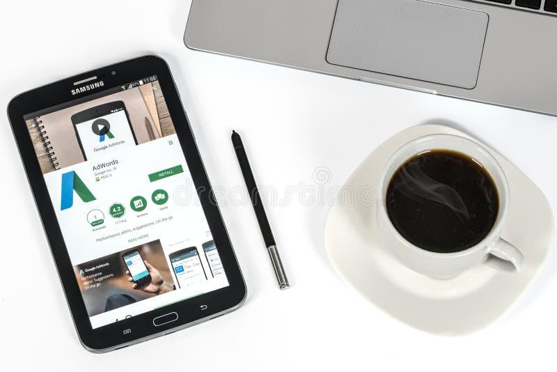 Aplicação de Google AdWords fotos de stock royalty free