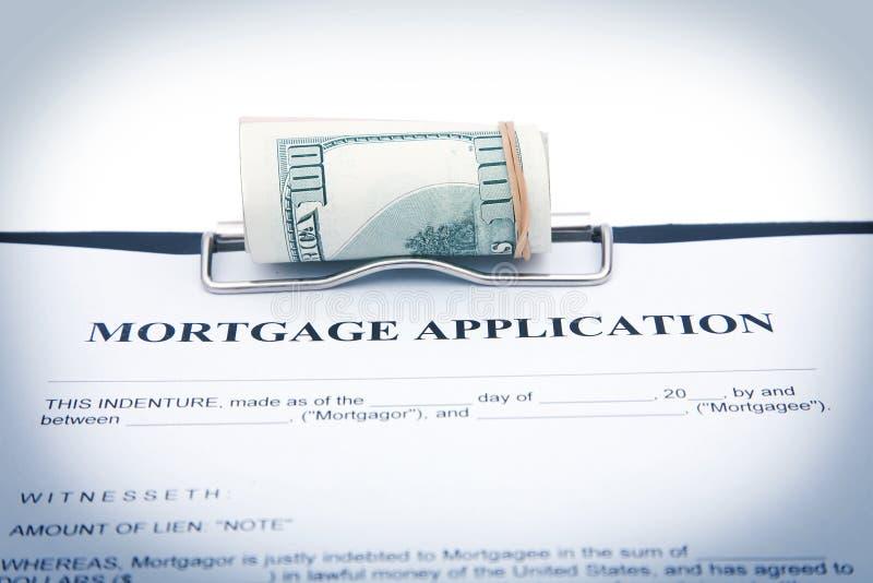 Aplicação de hipoteca foto de stock royalty free