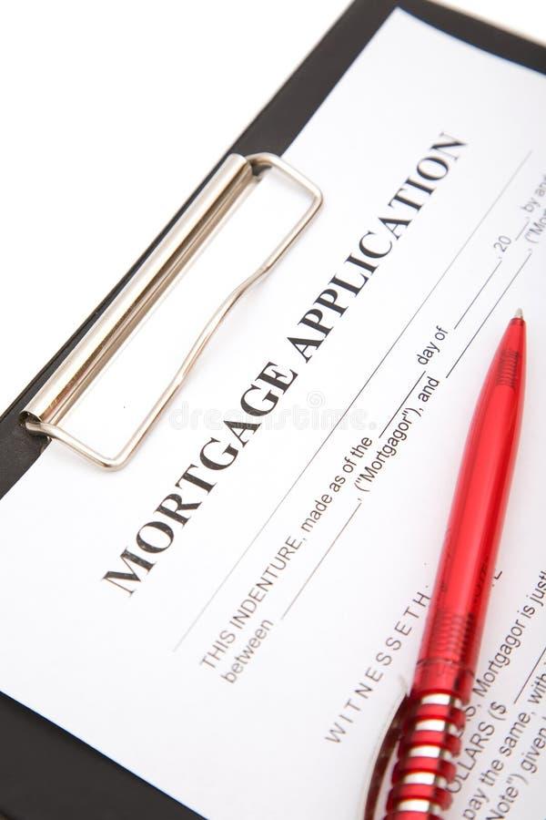 Aplicação de hipoteca imagem de stock royalty free