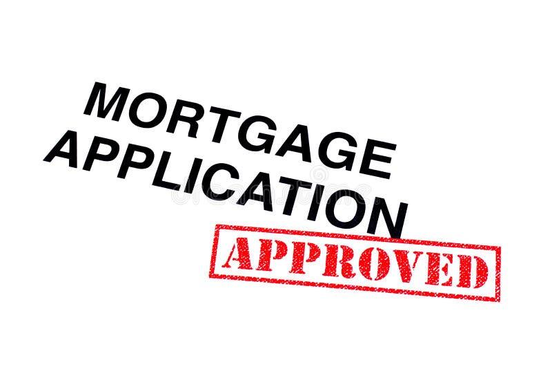 Aplicação de hipoteca aprovada fotografia de stock royalty free