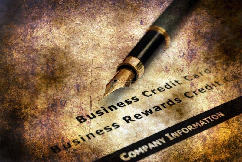 Aplicação do cartão de crédito do negócio imagem de stock